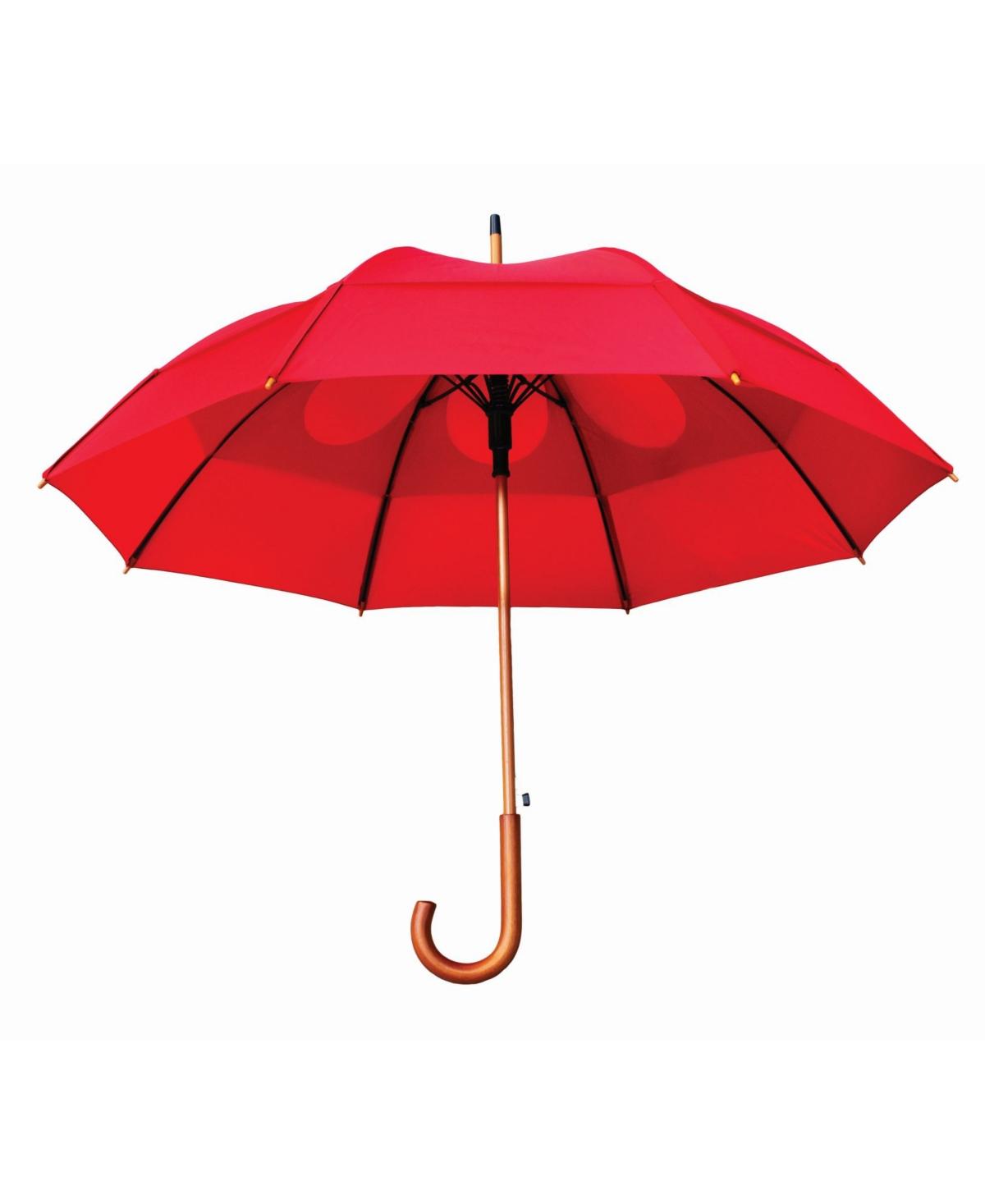 Gustbuster Wind Resistant Auto Open J-Shaped Handle Umbrella