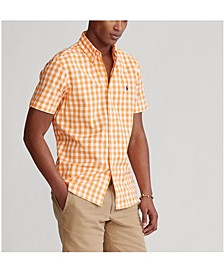 Men's Classic Fit Gingham Poplin Shirt