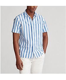 Men's Classic Fit Striped Camp Shirt