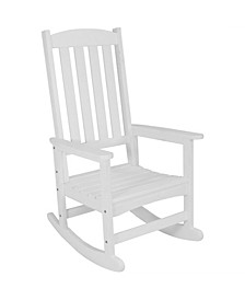 All-Weather Faux Wood Design Outdoor Patio Rocking Chair