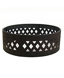 Cross weave Campfire Ring Large Outdoor Fire Pit