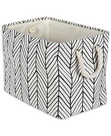 Polyester Bin Herringbone Rectangle Small
