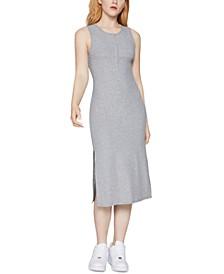 Ribbed Tank Henley Dress
