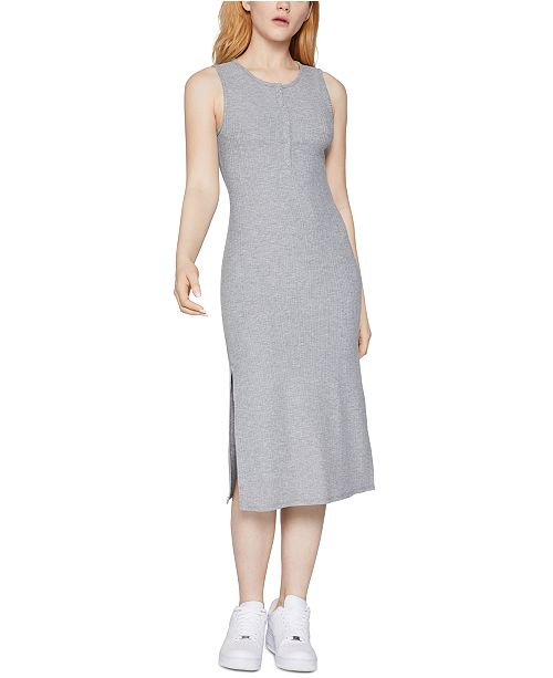 BCBGeneration Ribbed Tank Henley Dress