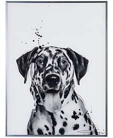 """Dalmatian Pet Paintings on Reverse Printed Glass Encased with a Gunmetal Anodized Frame Wall Art, 24"""" x 18"""" x 1"""""""