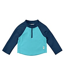 Baby Boy Long Sleeve Zip Rashguard Shirt