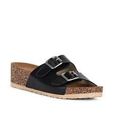 VIRTUE Slip On Double Buckle Sandal