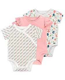 Baby Girl 3-Pack Bodysuits