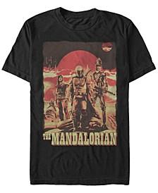 Star Wars The Mandalorian Space Cowboy Friends Short Sleeve Men's T-shirt