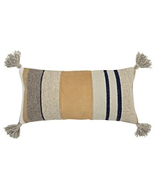 "Stripe Decorative Pillow Cover, 24"" x 12"""