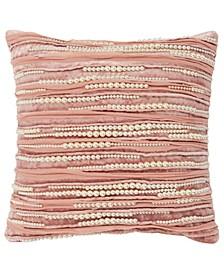 "Imitation Pearl Decorative Pillow Cover, 12"" x 12"""