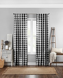 "Farmhouse Buffalo Check 52"" x 84"" Curtain Panel"
