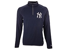 Men's New York Yankees Brushback Quarter Zip Pullover