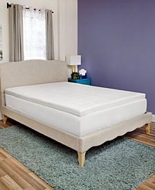 Luxury Extraordinaire 3-Inch Memory Foam Queen Mattress Topper
