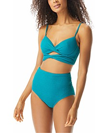 Icon Twisted Underwire Bikini Top & High-Waist Bikini Bottoms