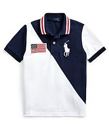 Toddler Boys Big Pony Cotton Mesh Polo