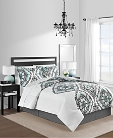 Greenwich 8-Pc. Gray Queen Comforter Set