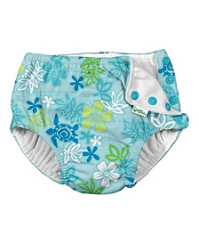 Toddler Boy and Girl Snap Reusable Absorbent Swimsuit Diaper