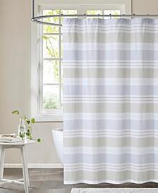 "Spa Stripe Shower Curtain, 72"" x 72"""