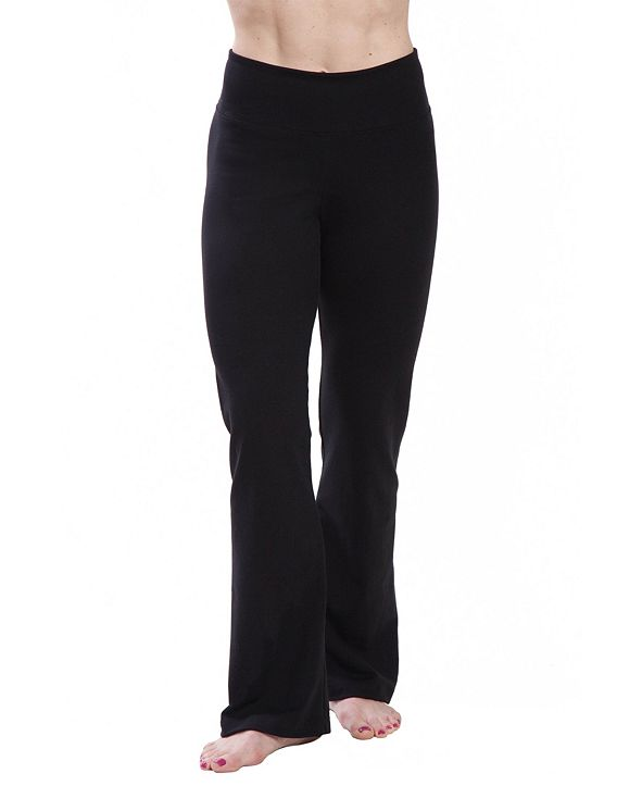 American Fitness Couture Women's High Waist Comfortable Bootleg Yoga Pants