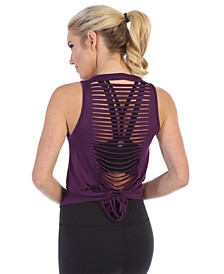 Get Shredded Laser Cut Open Back Tank