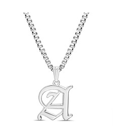"Women's Silver-Tone ""A"" Initial Necklace"