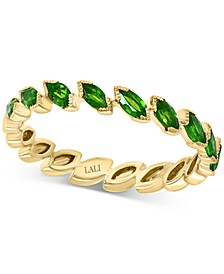 Emerald Marquise Band (3/4 ct. t.w.) in 14k Gold (Also Available in Certified Ruby)