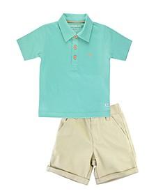 Toddler Boys Shirt and Chino Shorts Set