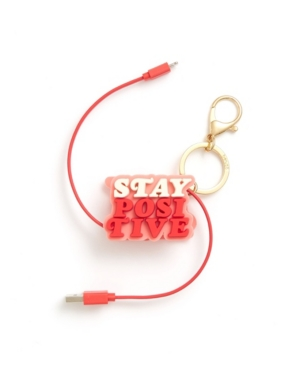 ban. do Retractable Charging Cord - Stay Positive Keychain