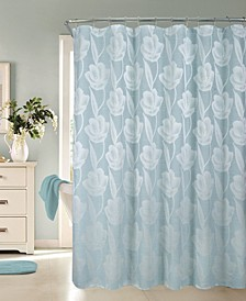 """Lily Floral Shower Curtain, 70"""" x 72''"""