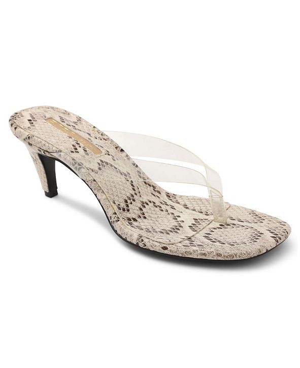 BCBGeneration Tabina Kitten-Heel Toe Thong Sandals