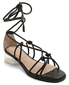 Gianni Tie-Up Strappy Sandals