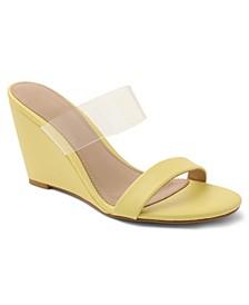 Pina Vinyl Wedge Sandals