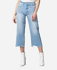 High Rise Wide Leg Crop Jeans