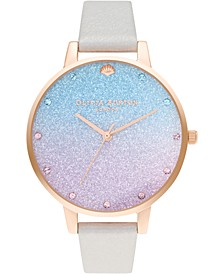 Women's Under The Sea Pearly White Leather Strap Watch 38mm