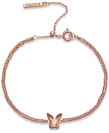 Bunny Chain Link Bracelet in Rose Gold-Plated Brass