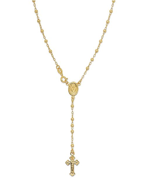 Giani Bernini 24k Gold over Sterling Silver Necklace, Rosary Necklace