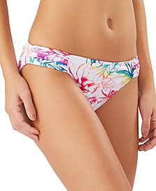 Reversible Shirred-Side Hipster Bikini Bottoms