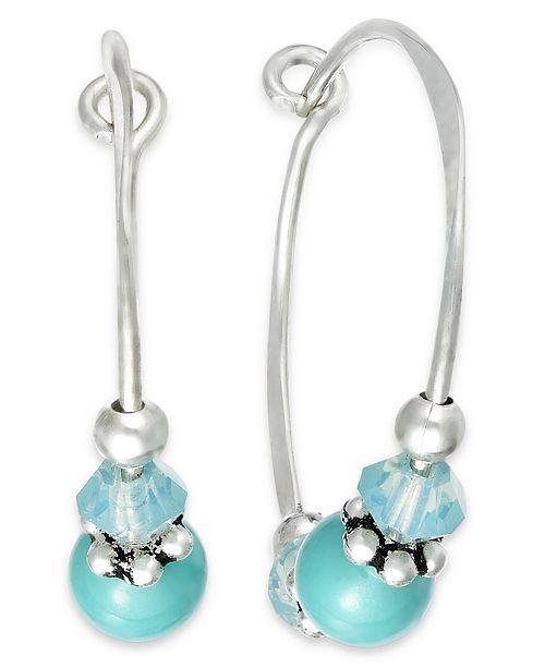 505a232e9 ... Jody Coyote Sterling Silver Earrings, Austrian Crystal Hoop Earrings ...