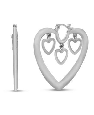 Dangle Heart Hoop Wire Earring