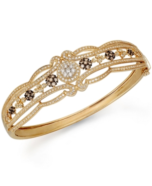 Espresso by Effy Brown and White Diamond Bangle (2 ct. t.w.) in 14k Gold