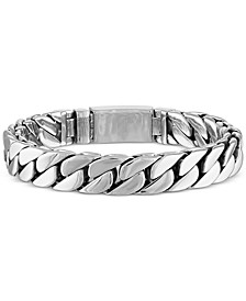 Curb Link Bracelet in Stainless Steel, Created for Macy's