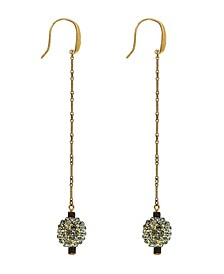 by 1928 14 K Gold Dipped Long Wire Fireball Linear Earring with Swarovski Crystals