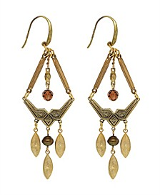 by 1928 Chandelier Earring Accented with Baroque Glass Pearls and Swarovski Crystal Beads