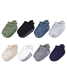 Toddler Boys and Girls Socks with Non-Skid Gripper for Fall Resistance