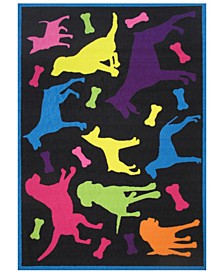 "Fun Time Bow Wow 19"" x 29"" Area Rug"