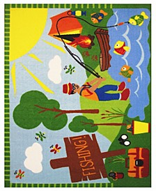 "Fun Time Gone Fishing 19"" x 29"" Area Rug"