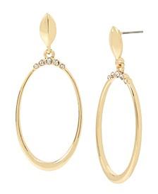"""Stone Crown Gypsy Hoop Earrings, 2"""""""