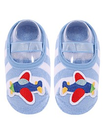 Toddler and Little Boys Socks with Airplane Applique