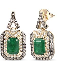 New Emerald (1-3/8 ct. t.w.) & Diamond (3/4 ct. t.w.) Drop Earrings in 14k Gold